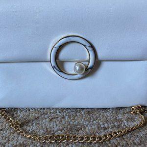 White Pearl Clutch Purse